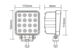 LED Working Lights 48W 16PCS * 3W Epistar Auto Accessories Spot Flood Beam pictures & photos