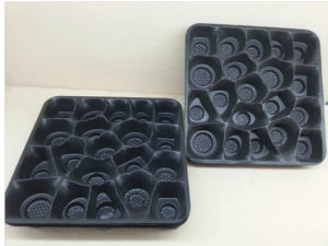 Custom Plastic Black Tray Made-in-China pictures & photos