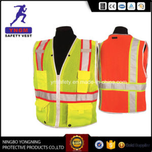 Orange and Blue Reflective Safety Workwear Clothes with High Visibility Tape pictures & photos