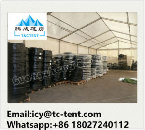 Large Storage Tent Used for Motorcycle Storage with Glass Door and Sandwich Panel Wall pictures & photos