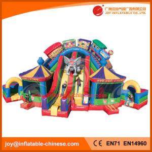 Inflatable Slide Funfair Playground Bouncing Castle for Kids Party (T6-201) pictures & photos