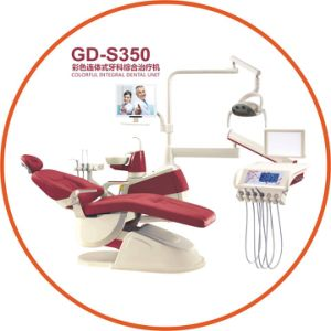 Ce & FDA Approved Gladent High Quality Colorful Dental Unit with LED Sensor Lamp pictures & photos