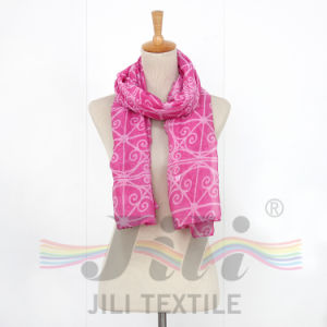 Latest Unusual Geometric Spatial Pattern Print Long Winter Women Scarf pictures & photos