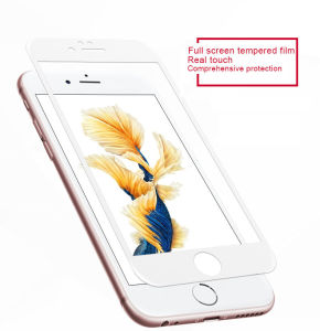 2.5D Round Edge Phone Accessories Silk Printing Tempered Glass Screen Protector for iPhone 6 Mobile Phone pictures & photos