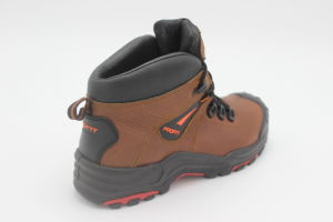 Orange Leather Safety Shoes Work Shoes pictures & photos
