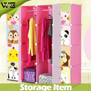 Kids Clothing Plastic Design Bedroom Furniture Online Armoire Wardrobe pictures & photos