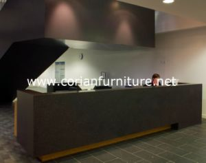 Black Corian Solid Surface Modern Office Front Reception Desk pictures & photos