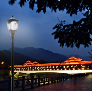 Hot Sale LED Outdoor Lighting with Motion Sensor Solar Garden Light Pillar Landscape Light European Style pictures & photos