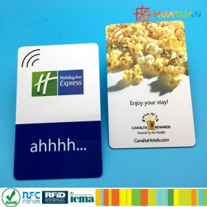 Custom plastic 13.56MHz ISO14443A FUDAN FM08 RFID cruise hotel card pictures & photos
