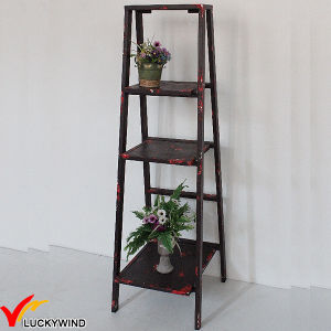 Eco Paint Rustic 3 Tiers Ladder Style Storage Shelf pictures & photos