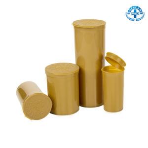 Hinged Cap Pop Top Vials Prescription Herb Container Plastic Medical Pill Bottle pictures & photos