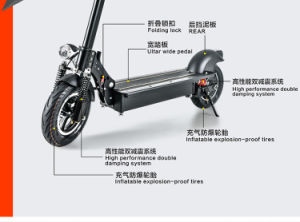 48V 10inch Self Balance Scooter Wholesale F/R Suspension pictures & photos