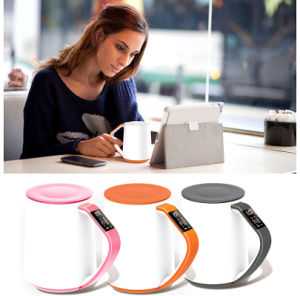 New OLED Temperature APP Health Gift Ceramic Handle Coffee Smart Cup 350ml