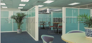 Modern Aluminium Office Cabin Above Half Height Glass Partition (SZ-WS677) pictures & photos