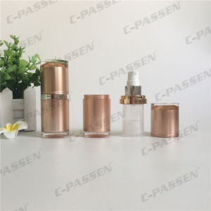 15ml Champagne Acrylic Cosmetic Bottle with Airless Pump (PPC-AAB-030) pictures & photos