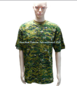 Custom High Quality Camo T-Shirt with Round Neck pictures & photos