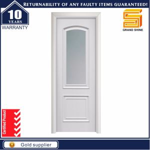 Classic Euro White MDF Wood Interior Wooden Glass Door pictures & photos