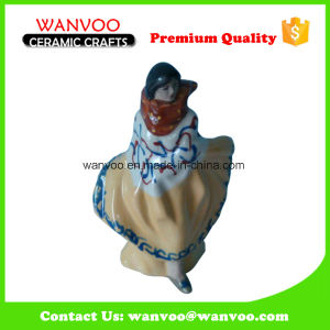 Woman in Long Dress Ceramic Figurine for Decoration Home Ornament pictures & photos