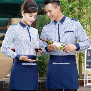 Restaurant Waiter Waitress Apron Uniforms of Polyester pictures & photos