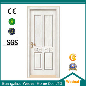 White Primed Solid Wooden Interior MDF Door for Houses pictures & photos