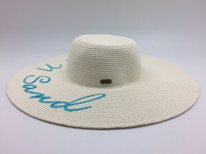 2017 Big Brim Hat Beach Hat for Lady Knitting Logo pictures & photos