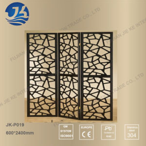 Laser Cut 304 Stainless Steel Metal Folding Screen for Room Divider