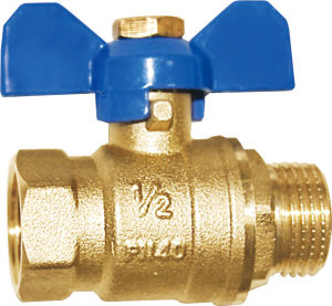Hex Female/Male Thread Brass Butterfly Ball Valve pictures & photos