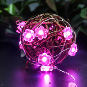 Pink Plum Blossom Waterproof AA Battery Operated Customized LED Christmas Light Set pictures & photos