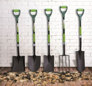 Hand Tools Shovel Round Fibreglass Grip D Handle DIY Garden pictures & photos