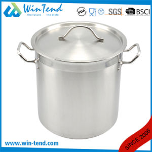 05 Style Stainless Steel Sanded Heat Conduction Combine Bottom Soup Stock Pot pictures & photos