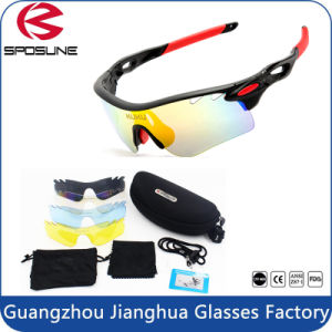 Super Light UV400 Protection Anti Glare Sport Sunglasses with Case pictures & photos
