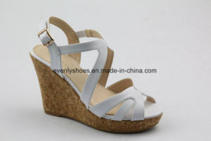New Fashion Wedge Design Lady High Heel Sandal pictures & photos