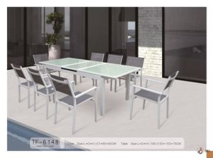 Textilene Aluminum Outdoor Garden Furniture 8 Seaters Dining Set TF-6148 pictures & photos