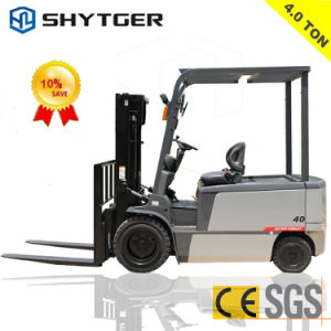 4ton Duplex Electric Forklift with Large Battery pictures & photos