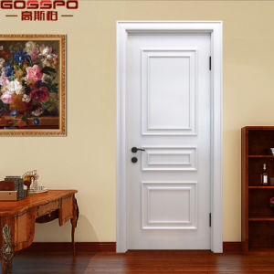 White Single Leaf Solid Teak Wood Arch Door (GSP2-109) pictures & photos