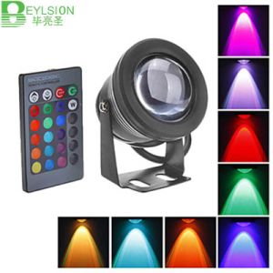 10W DC12V Underwater RGB Waterproof LED Flood Light pictures & photos