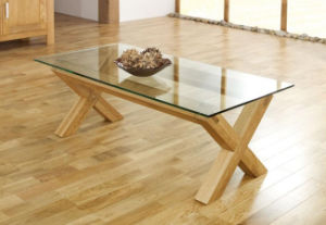 Lyon-Oak-Glass-Coffee-Table / Design Coffee Table / Solid Ash Wood Coffee Table pictures & photos
