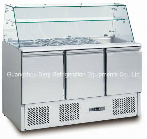 Commercial Staless Steel Salad Bar Refrigerator for Hotel pictures & photos