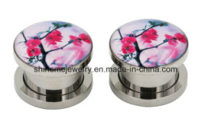 Body Jewelry Stainless Steel Glue Ear Expander pictures & photos