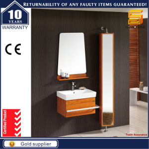Solid Wood Wall Mounted Bathroom Cabinet Vanity with Side Cabinet pictures & photos