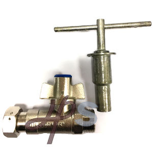 Brass Lockable Water Meter Ball Valve with Extension Pipe pictures & photos