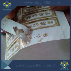 Easy Damaged One Time Use Laser Paper Sticker/Label pictures & photos