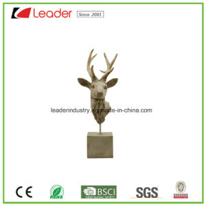 Hand Painted Polyresin Decorative Deer Statue for Home and Garden Decoration pictures & photos