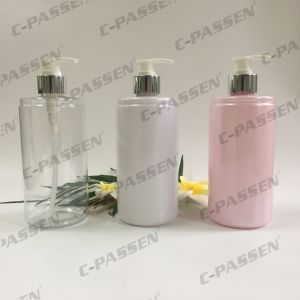 250ml Plastic Packaging Pink Pet Bottle with Lotion Pump (PPC-PB-067) pictures & photos