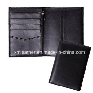 Leather Passport Holder Travel Wallet with Zipper Closure pictures & photos