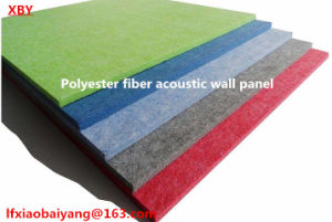 SGS Approved 100% Polyester Fiber Acoustic Panel for Wall Panel & Ceiling Panel Decoration Board pictures & photos