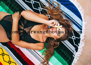 Cotton Printed Round Circle Beach Towel Wtih High Quality pictures & photos