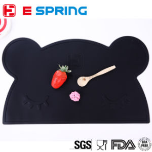 Baby Feeding Mat Food Grade Silicone Waterproof Table Mat Bear Shaped pictures & photos