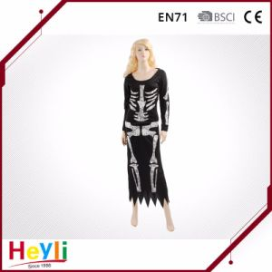 New Design Skeleton Halloween Party Women Dress Costumes for Girls pictures & photos