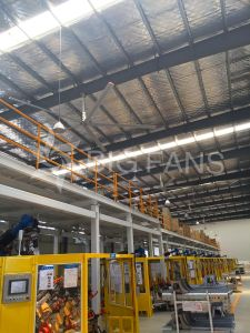 7.4m/24.3FT Use Ventilating Cooling Hvls Industrial Big Energy-Saving Plant/Warehouse Ceiling Fan pictures & photos
